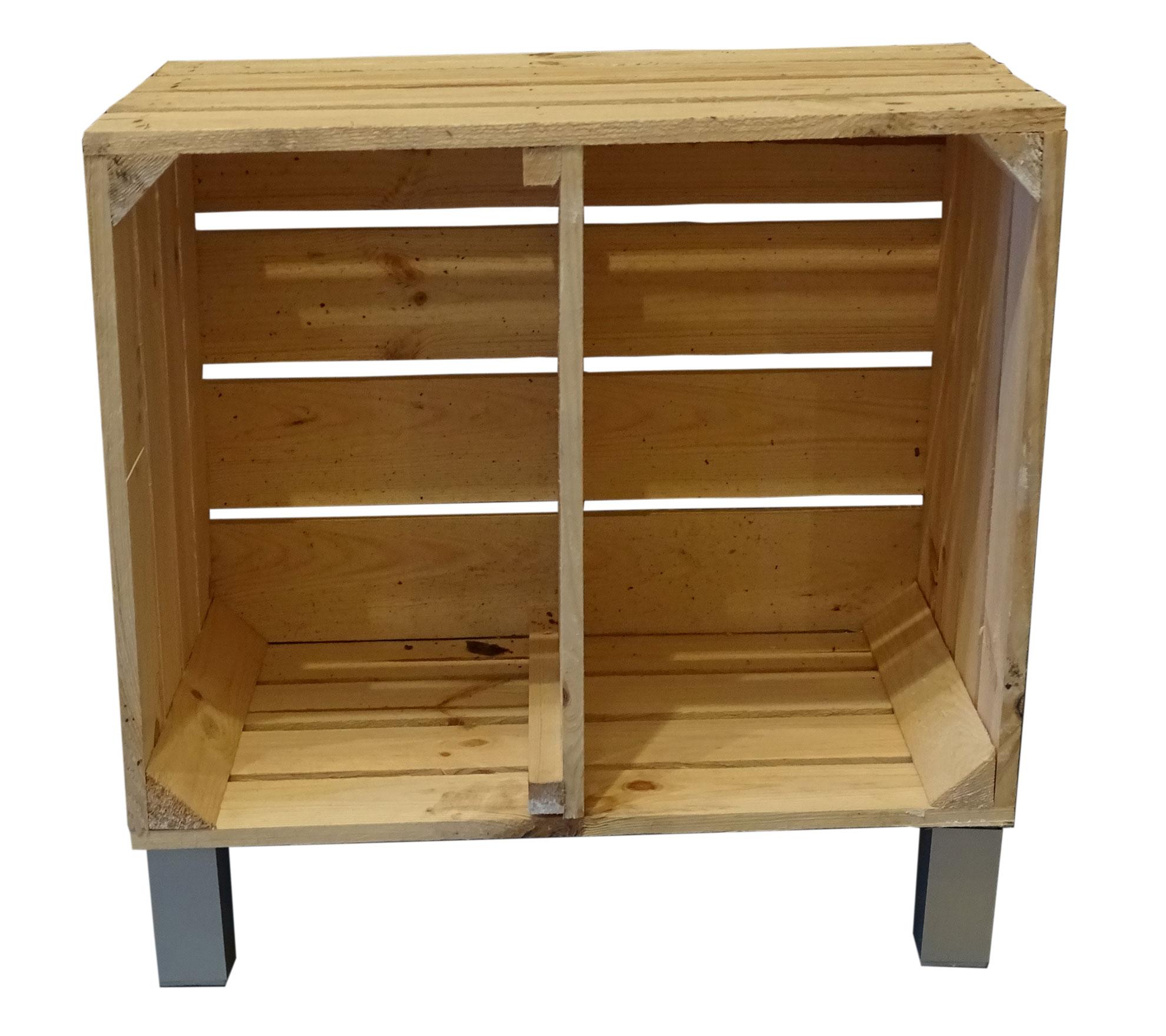 m bel beistelltisch aus naturfarbener neuer kiste kurzes mittelbrett mit f en. Black Bedroom Furniture Sets. Home Design Ideas
