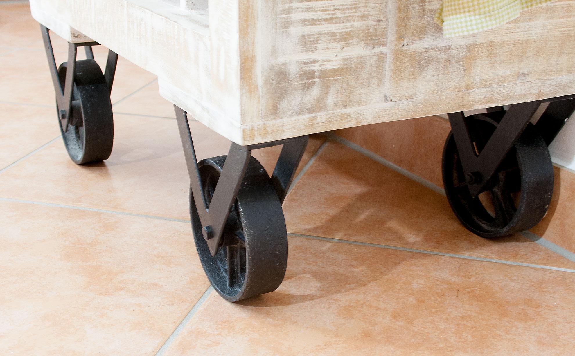 m bel shabby chic k chenwagen weintrolley 55x85x35cm. Black Bedroom Furniture Sets. Home Design Ideas