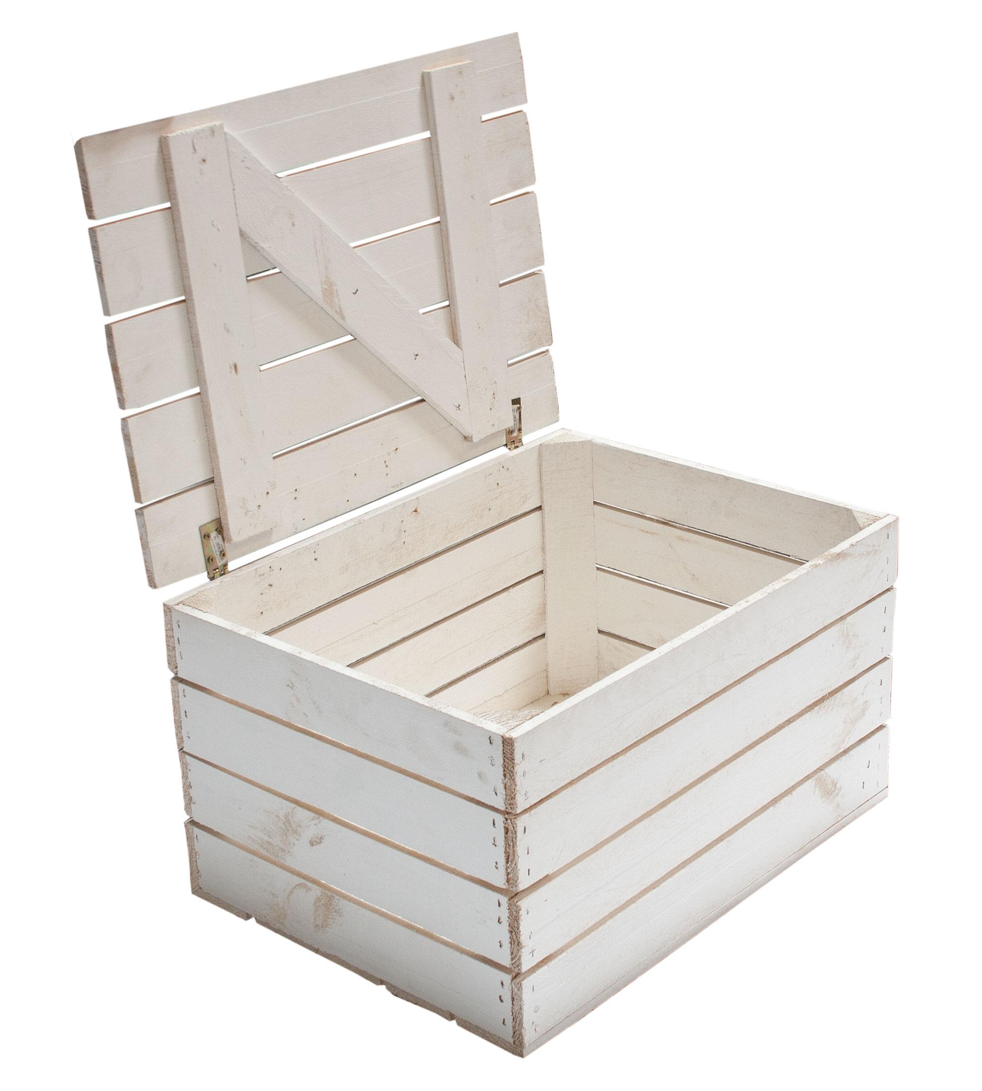 Möbel / Truhen : Neue Holztruhe in weiß *mittel* 58x43,5x34cm