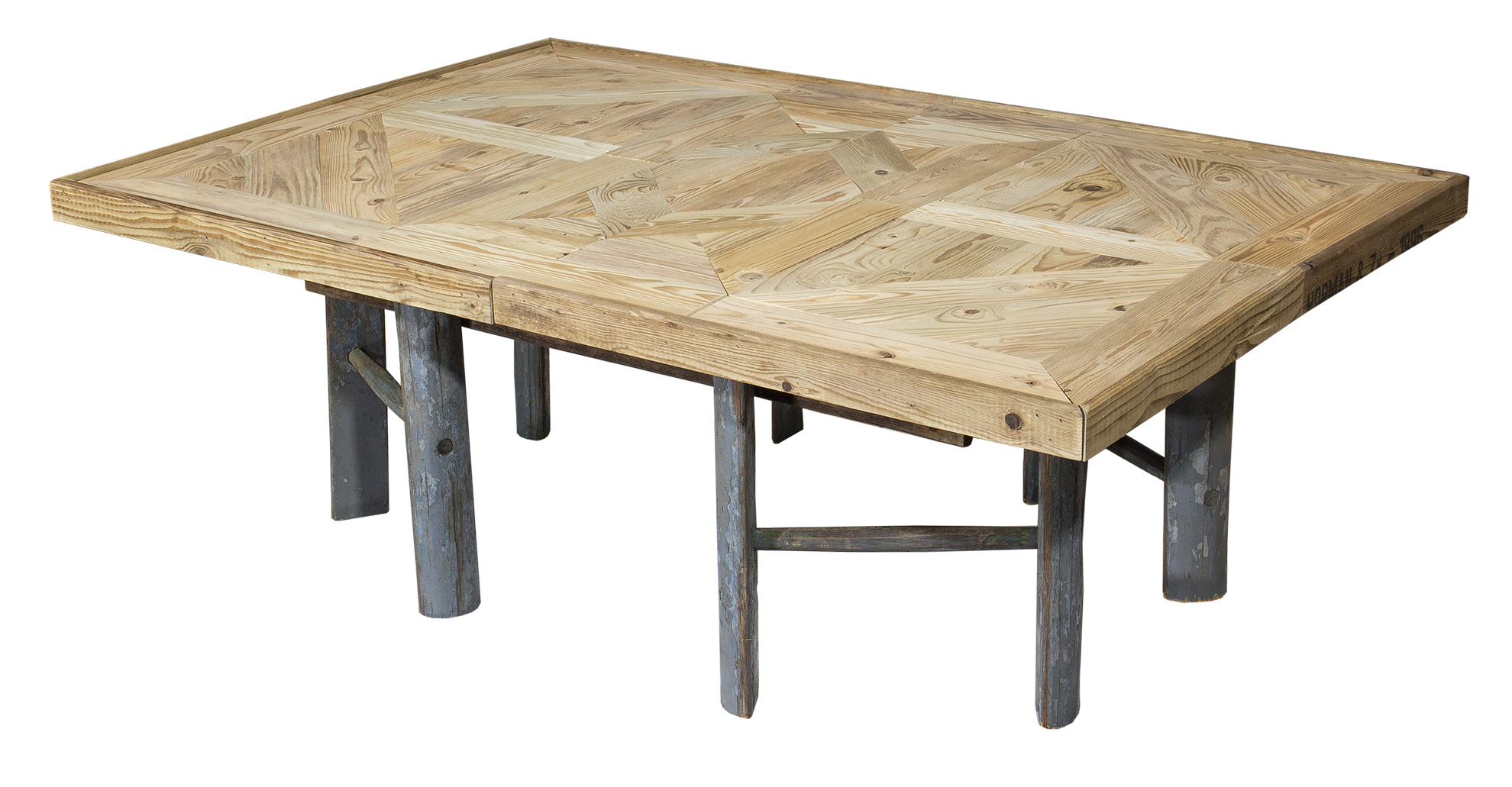Furniture Exclusive coffee table with ladder foot 110x73x38 5cm