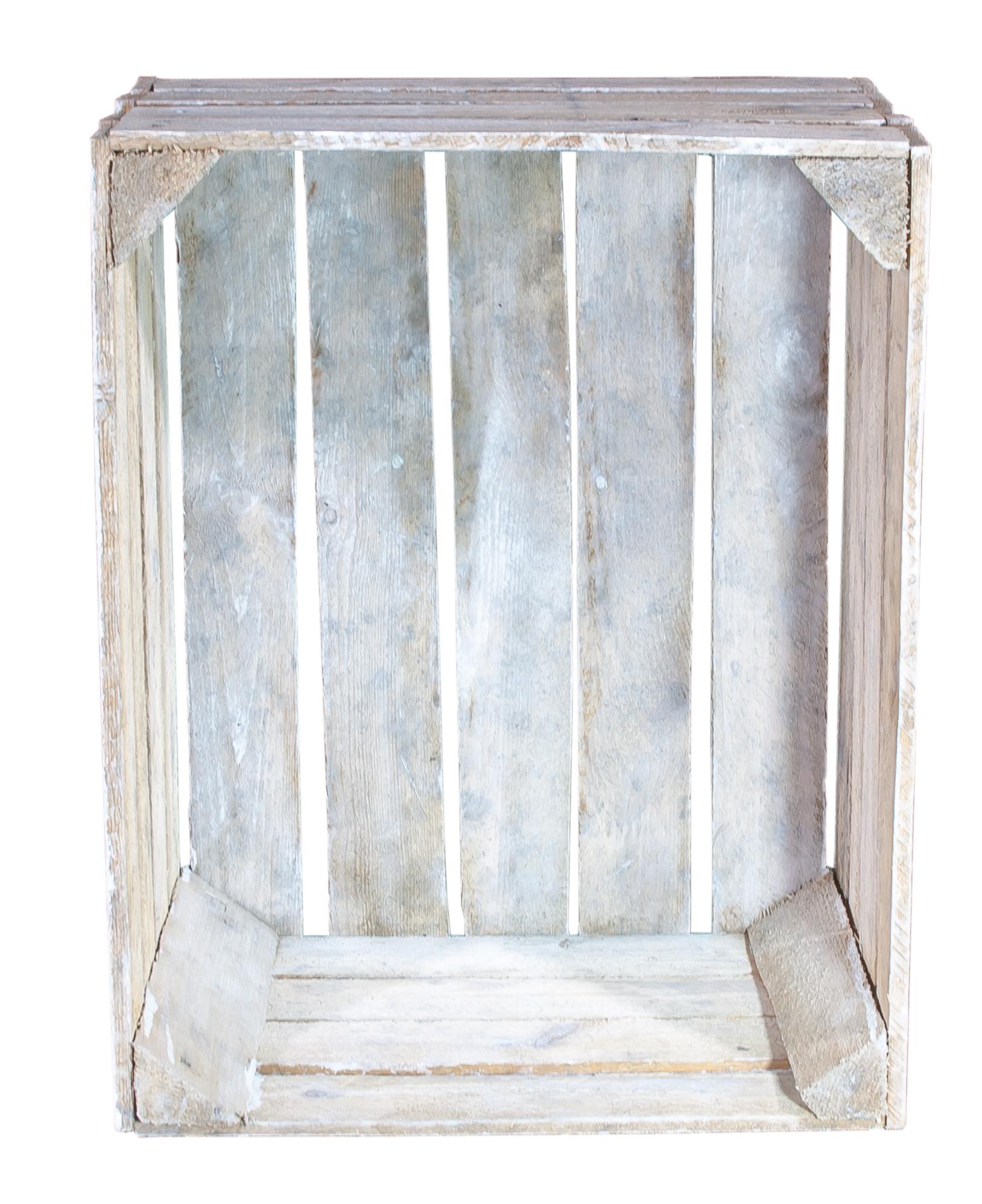 used look kisten shabby chic vintage holzkiste 50x40x30cm. Black Bedroom Furniture Sets. Home Design Ideas