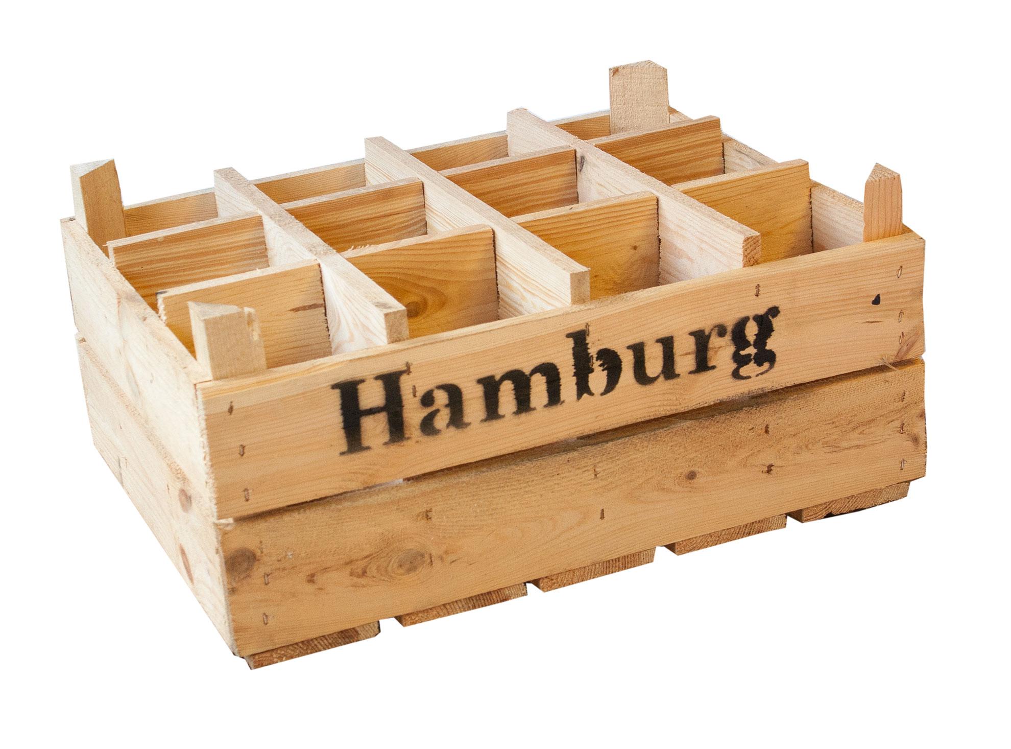 holzkisten flaschenkasten hamburg natur 50x40x23cm. Black Bedroom Furniture Sets. Home Design Ideas