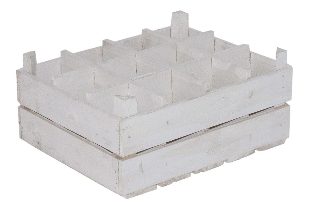 holzkisten wei e kiste als flaschenregal 50x40x23cm. Black Bedroom Furniture Sets. Home Design Ideas