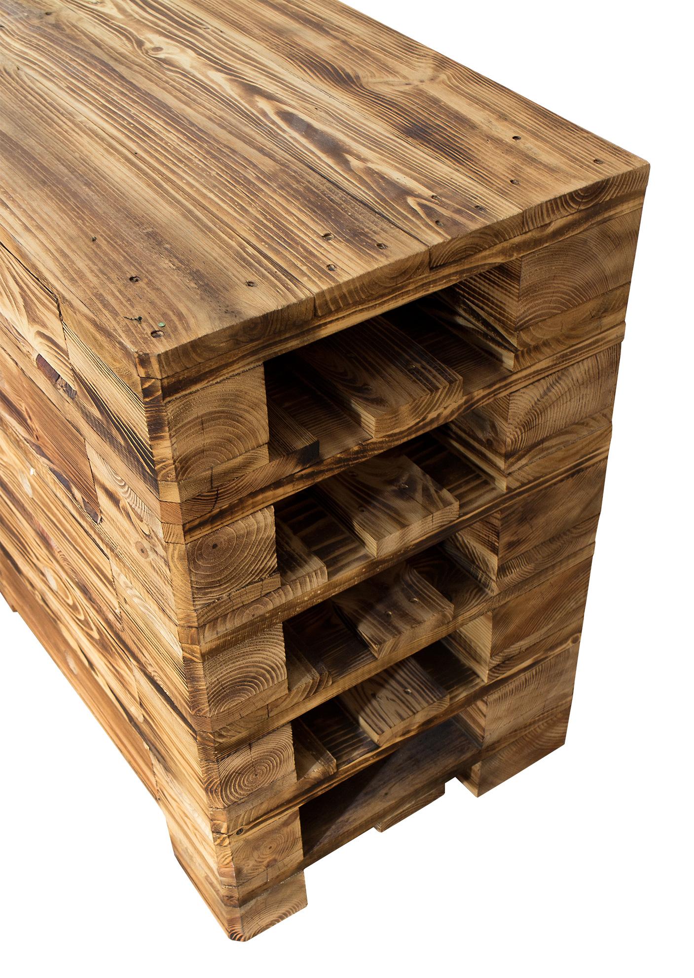 möbel aus paletten: vintage kommode aus palettenholz - im industrial