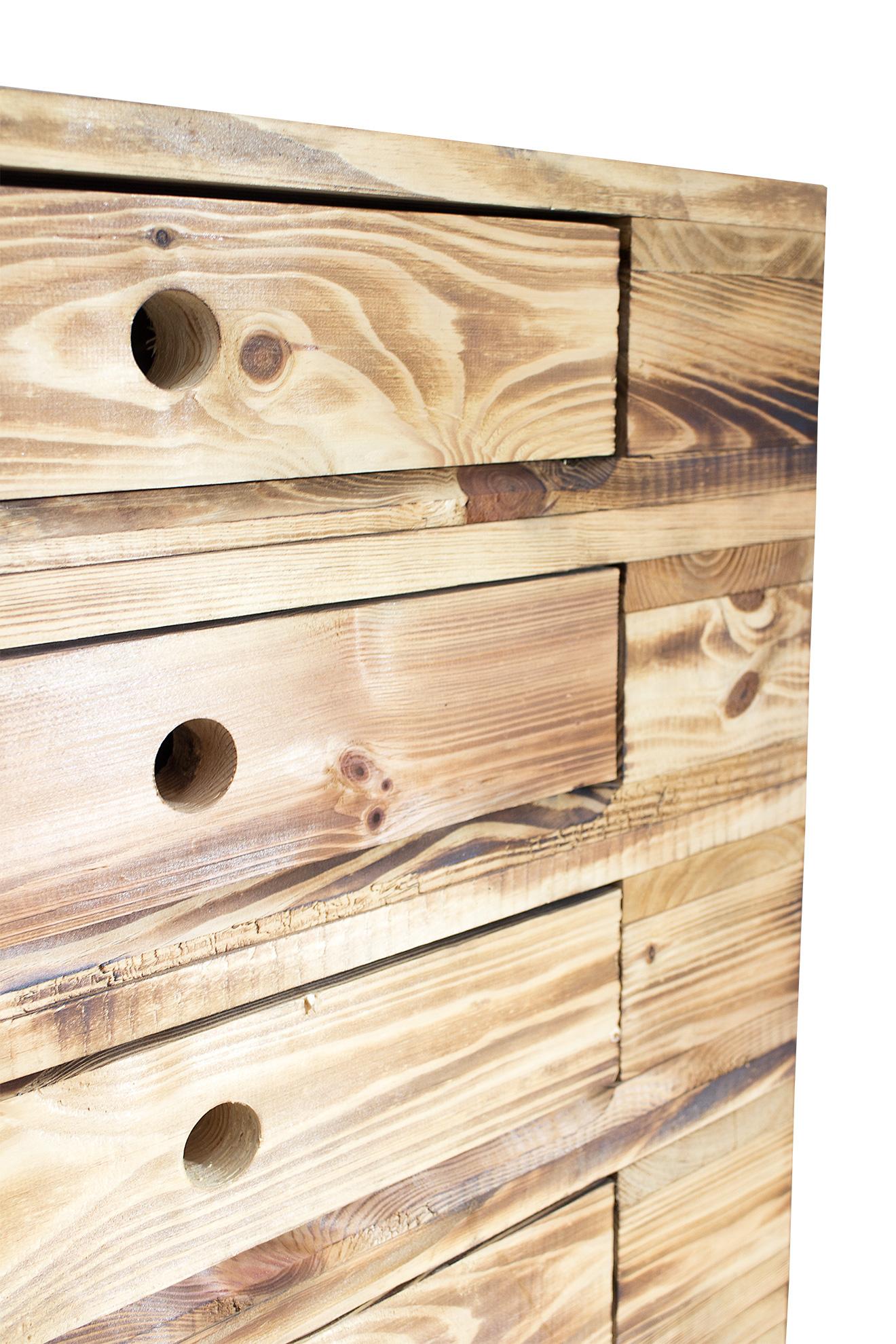 m bel aus paletten vintage kommode aus palettenholz im industrial style 120x47x72cm. Black Bedroom Furniture Sets. Home Design Ideas