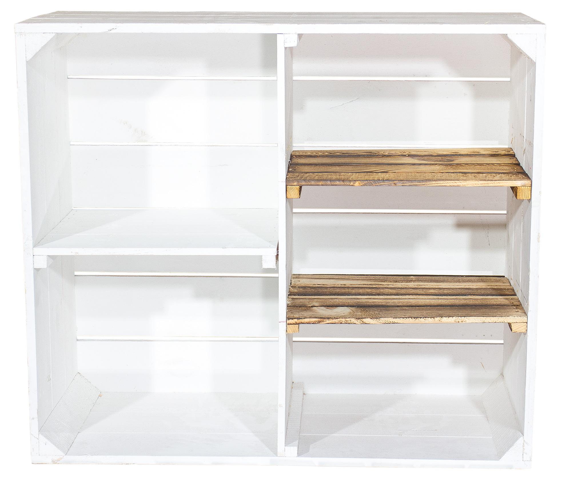 m bel shabby chic holzschrank mit 3 mittelbretter und. Black Bedroom Furniture Sets. Home Design Ideas