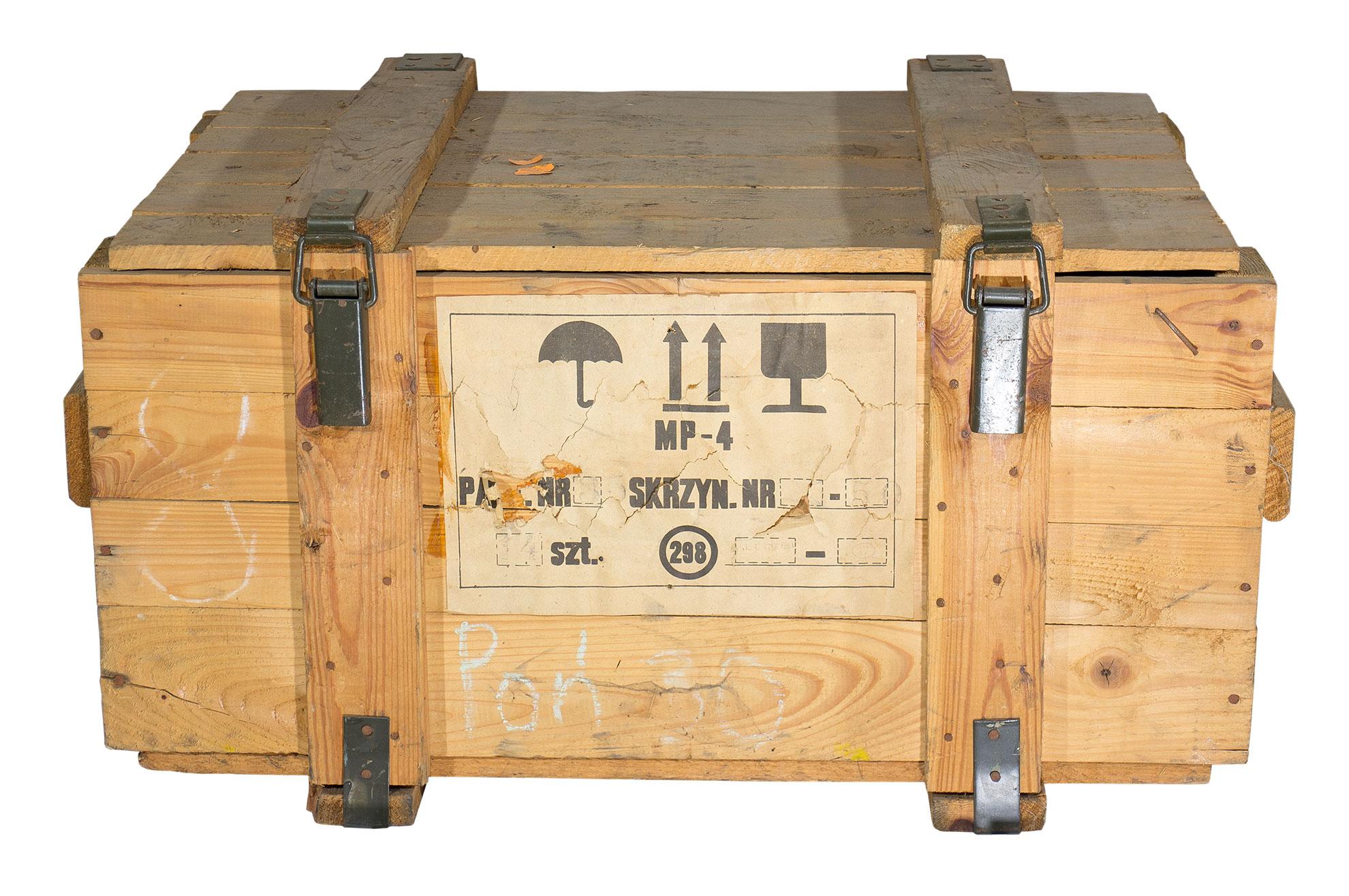 holztruhen mit deckel historische mittlere munitionskiste. Black Bedroom Furniture Sets. Home Design Ideas