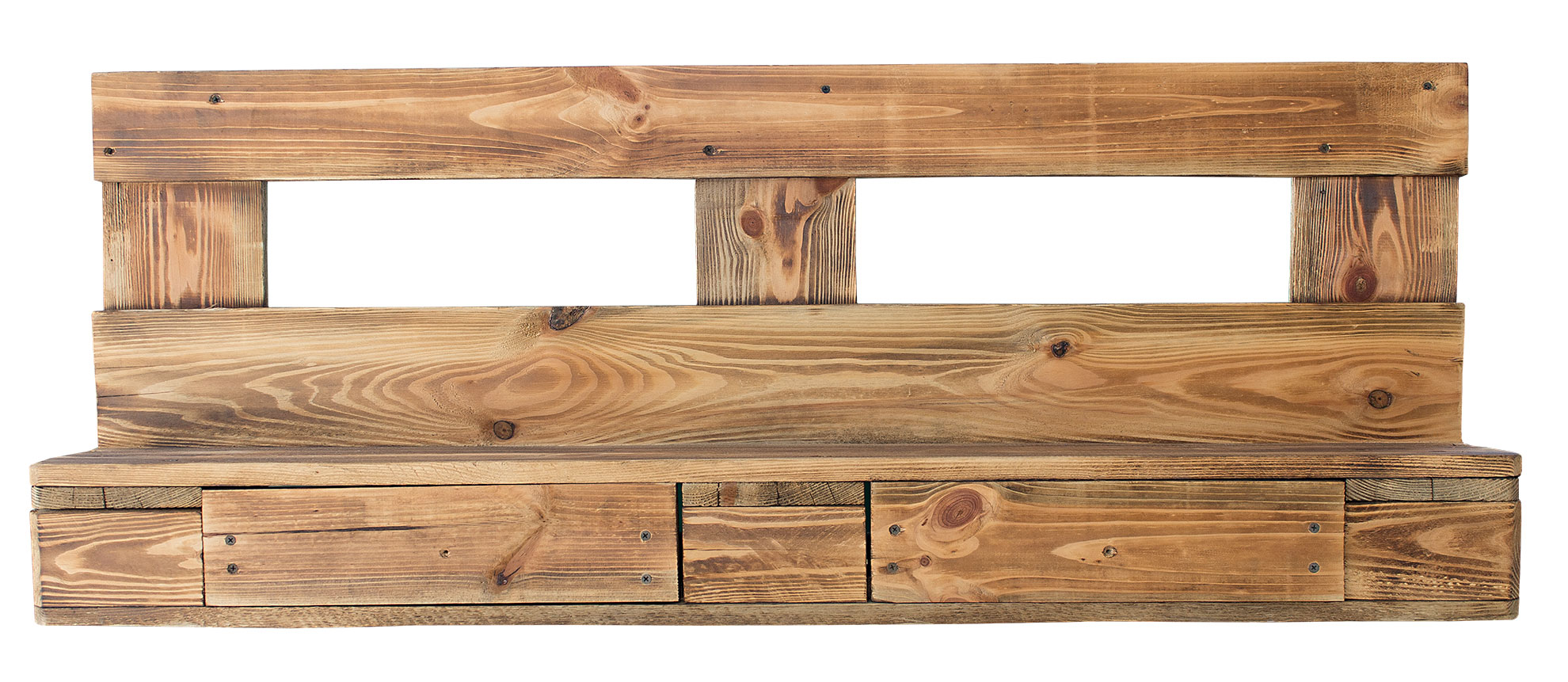Weinkisten Shop pallet furniture shelves made of pallets in flamed 120x20x47cm