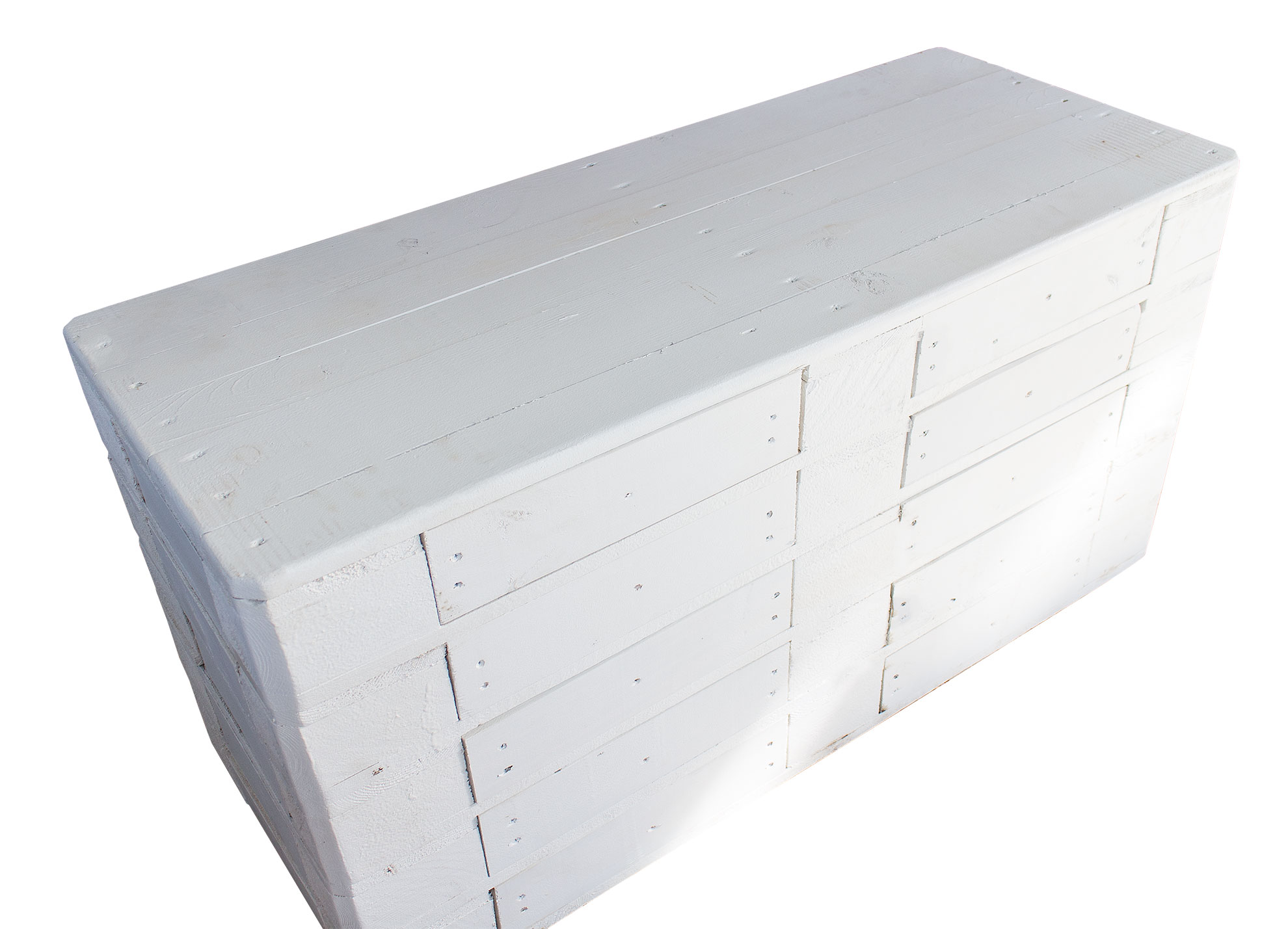 m bel vintage kommode aus palettenholz white edition 120x47x72cm. Black Bedroom Furniture Sets. Home Design Ideas