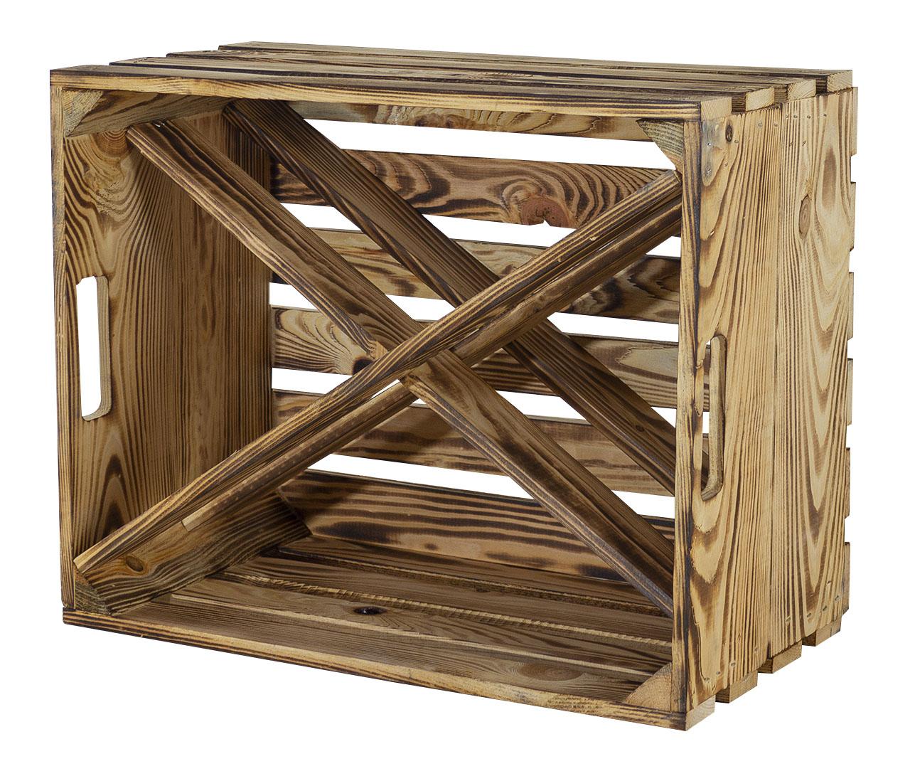 Weinlagerung Barschrank Aus Geflammten Holz Mit 4 Fachern Fur Spirituosen Neu 50x38x27cm Weinregal Holz Flaschenregal X Form