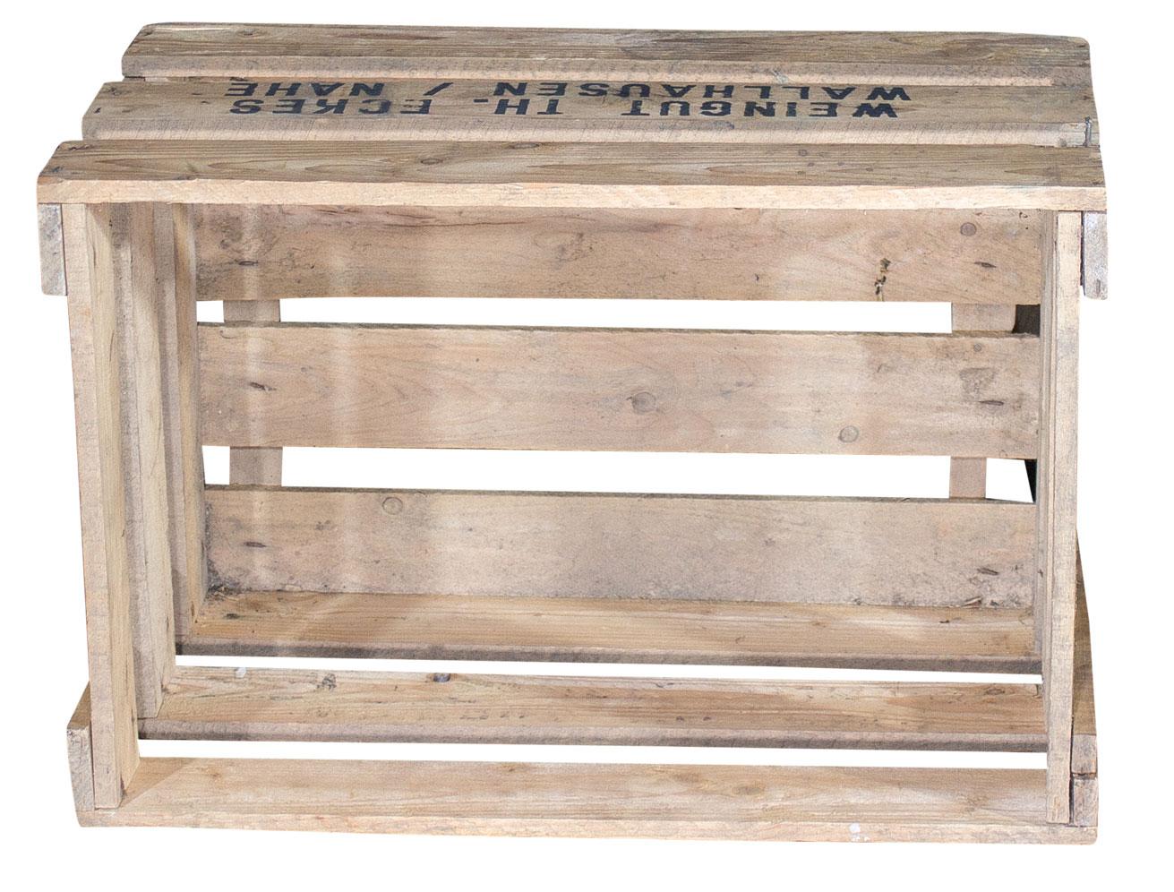 weinboxen alte weinkiste weingut th eckes 48x32x29cm. Black Bedroom Furniture Sets. Home Design Ideas