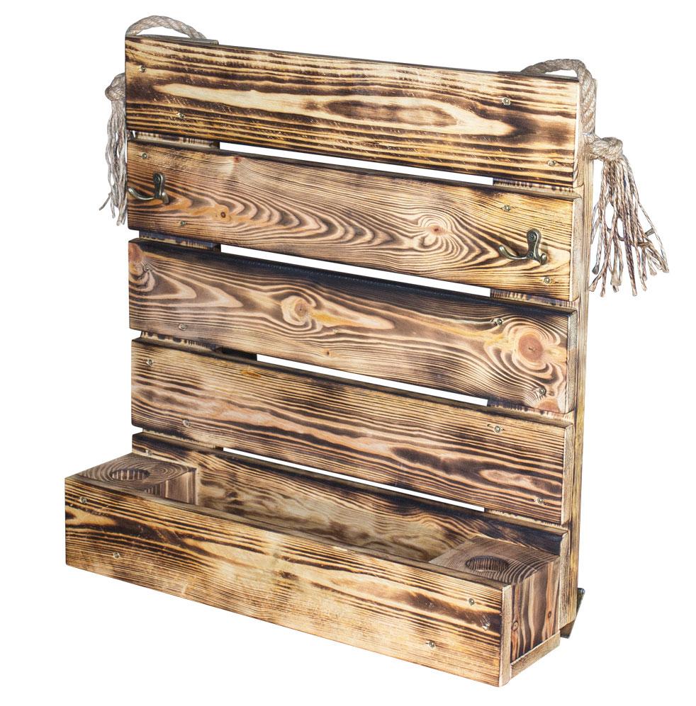n tzliches garderobe aus geflammtem holz 54x56cm. Black Bedroom Furniture Sets. Home Design Ideas