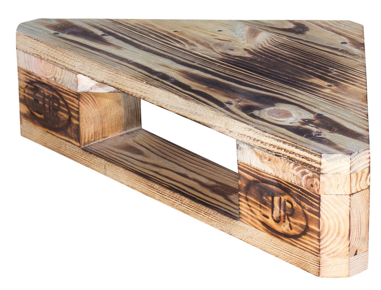 m bel aus paletten geflammtes eckregal aus palettenholz 60x44x14 5cm. Black Bedroom Furniture Sets. Home Design Ideas