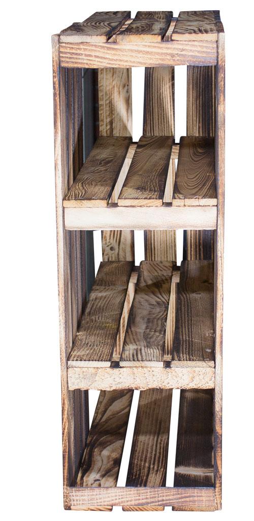 m bel schreibtisch unterbau aus geflammten holzkisten links 74x65x35cm. Black Bedroom Furniture Sets. Home Design Ideas