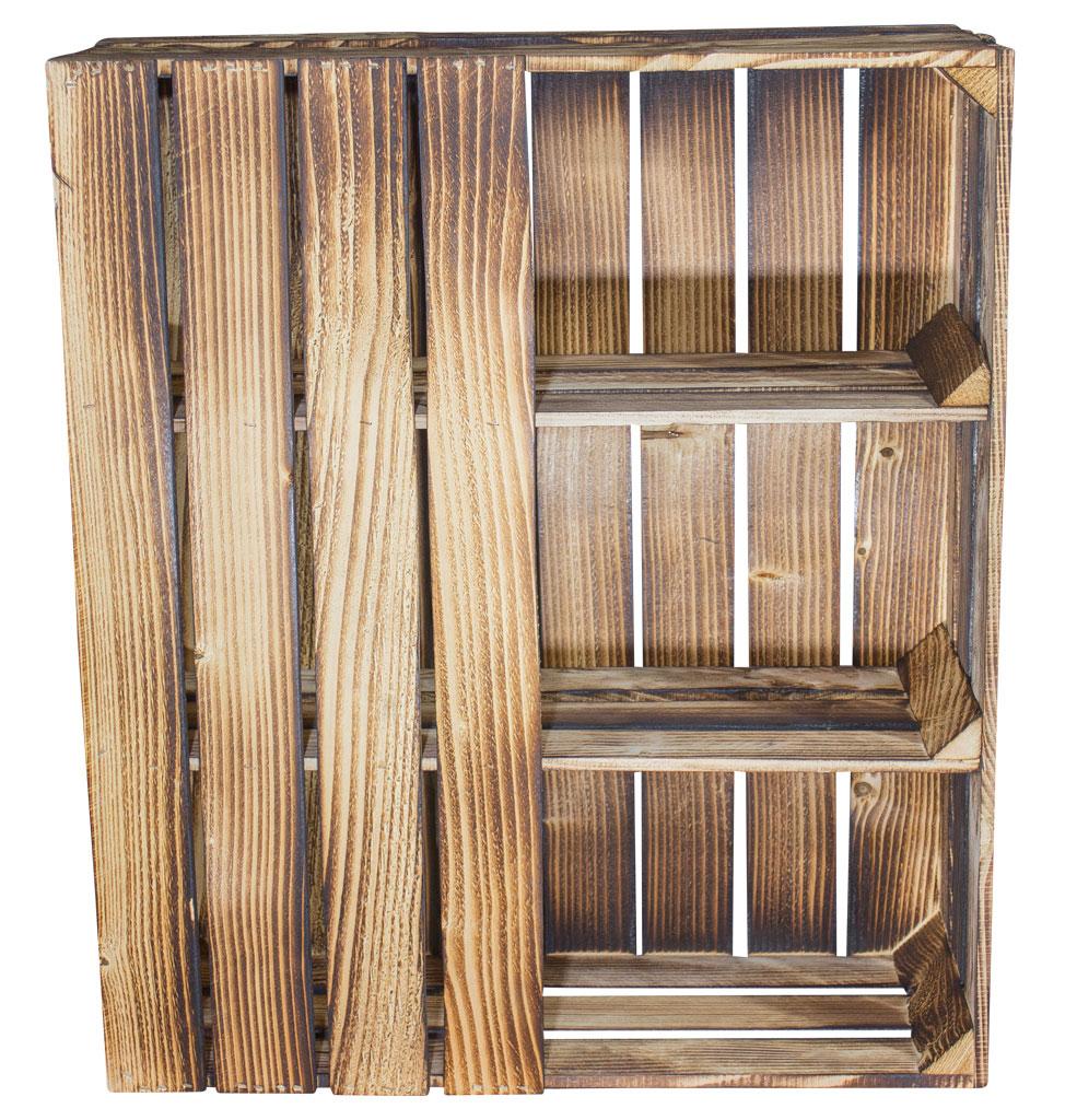m bel schreibtisch unterbau aus geflammten holzkisten rechts 74x65x35cm. Black Bedroom Furniture Sets. Home Design Ideas