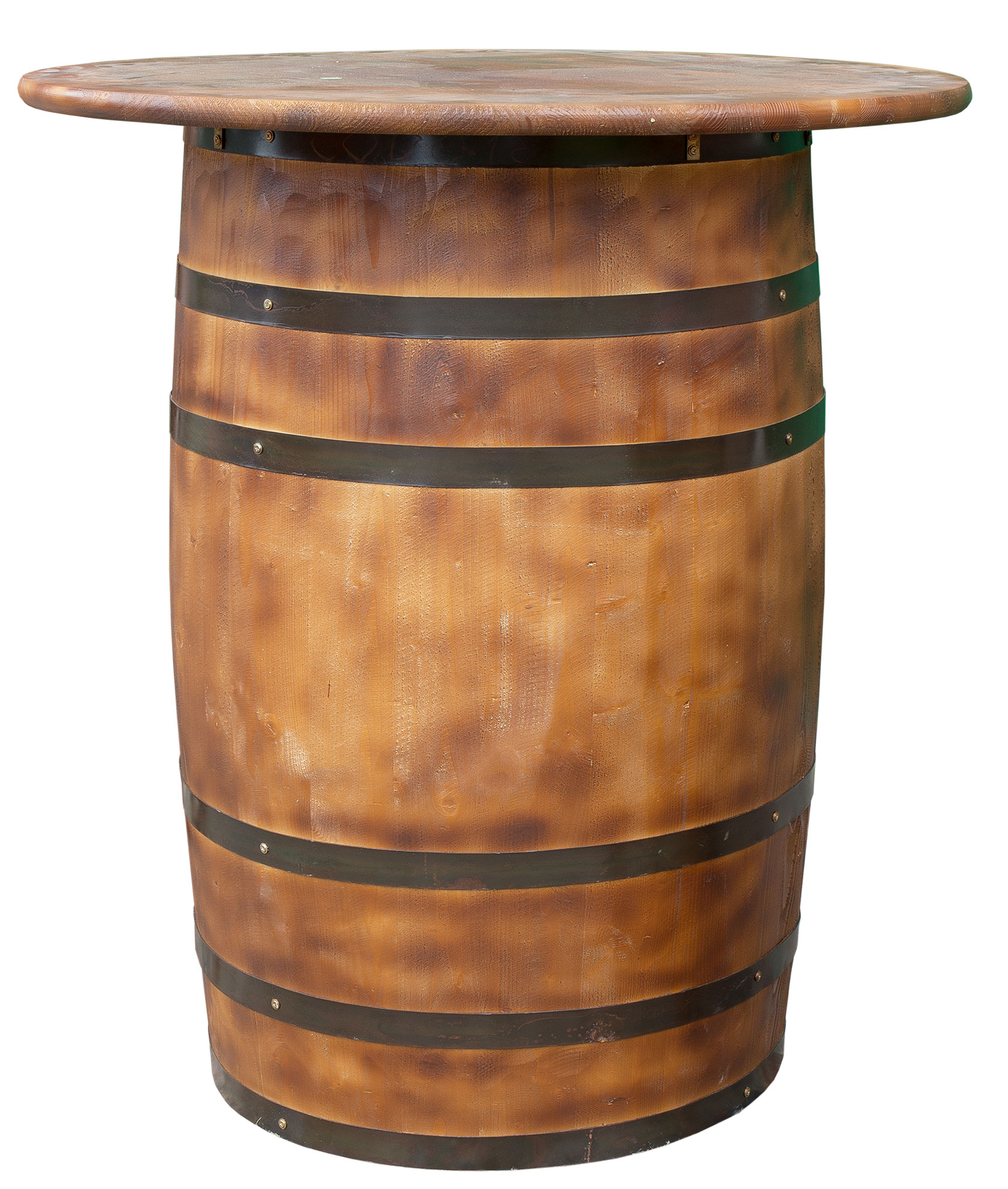 Weinkisten Shop vintage barrel furniture whole barrel as bar table 99x113cm