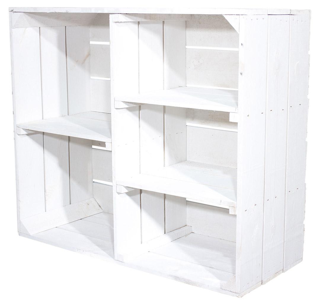Shabby Chic Houten Kast Met 3 Middel Boards En Afscheid Board 77x68x35cm