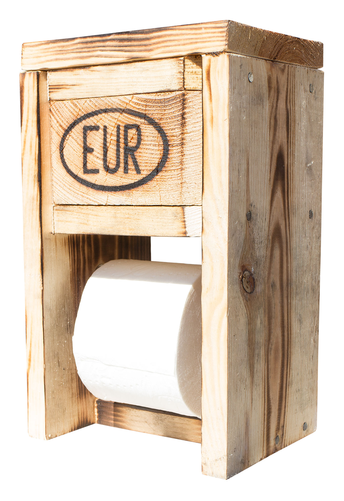Weinkisten Shop useful upcycling toilet toilet paper holder made of pallets