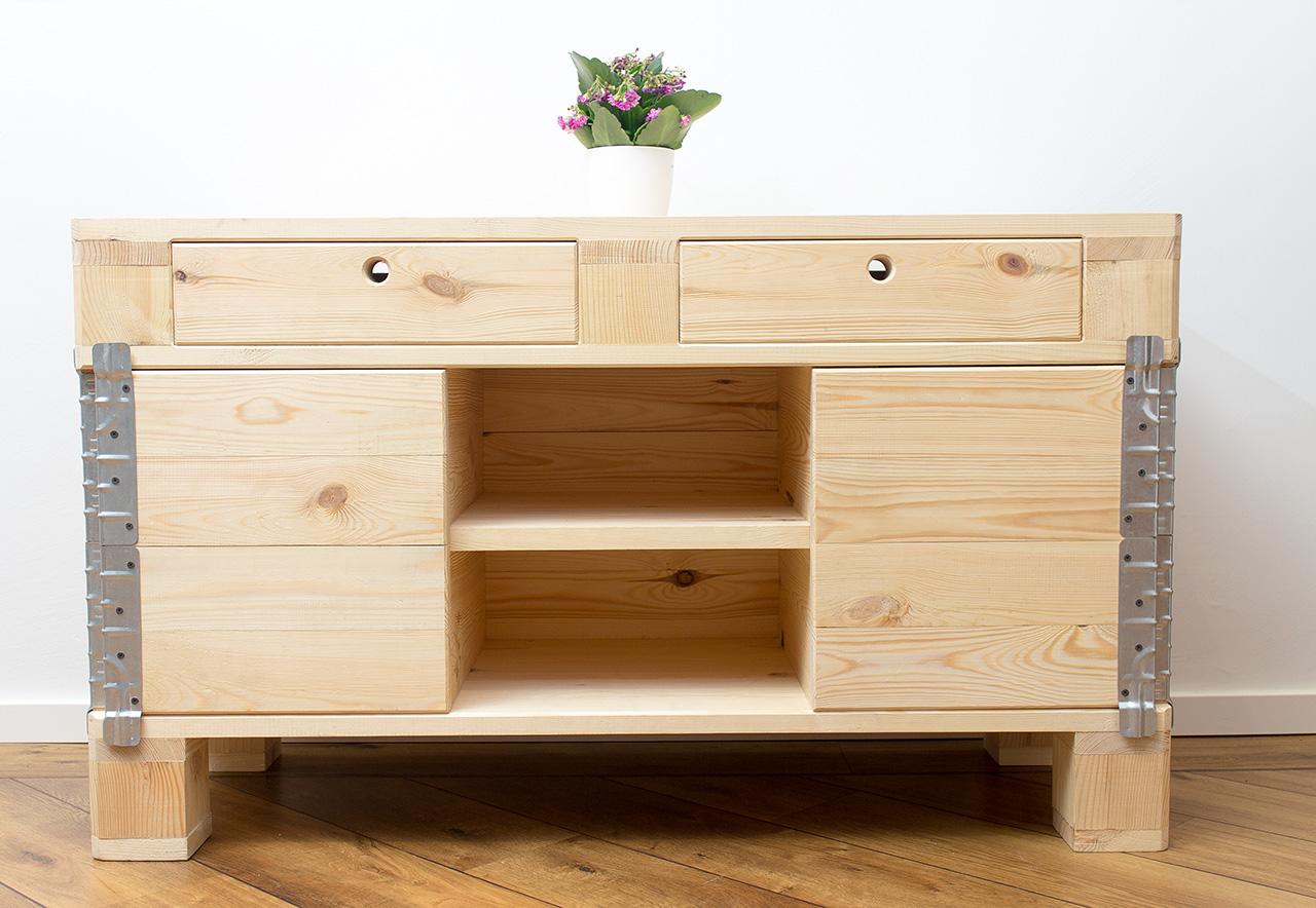 Möbel Kommode Aus Hellem Palettenholz