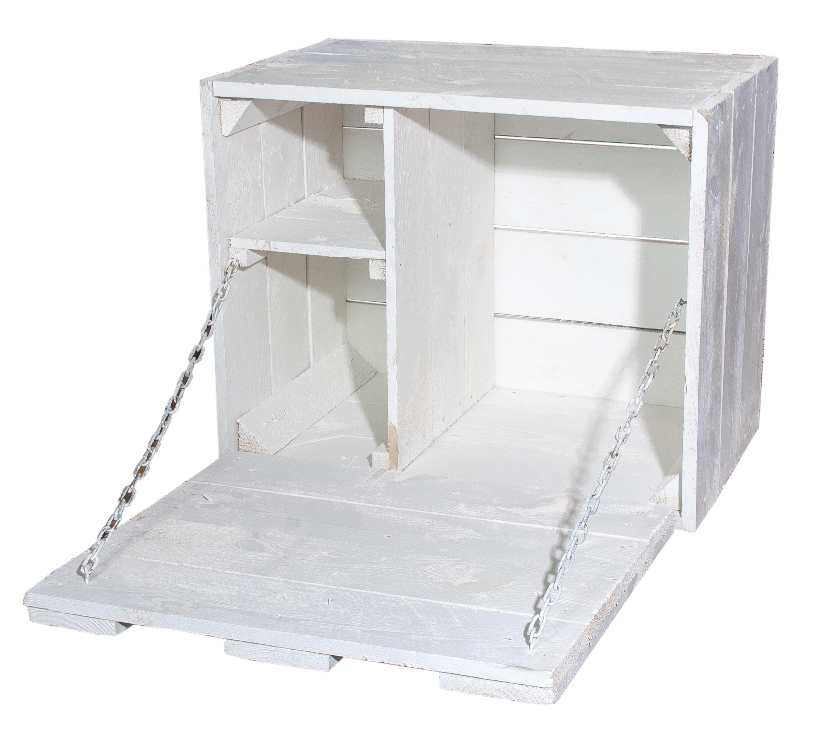 holztruhen mit deckel kleine wei e wandbar mit zugeh riger arbeitsfl che 51x41x31cm. Black Bedroom Furniture Sets. Home Design Ideas