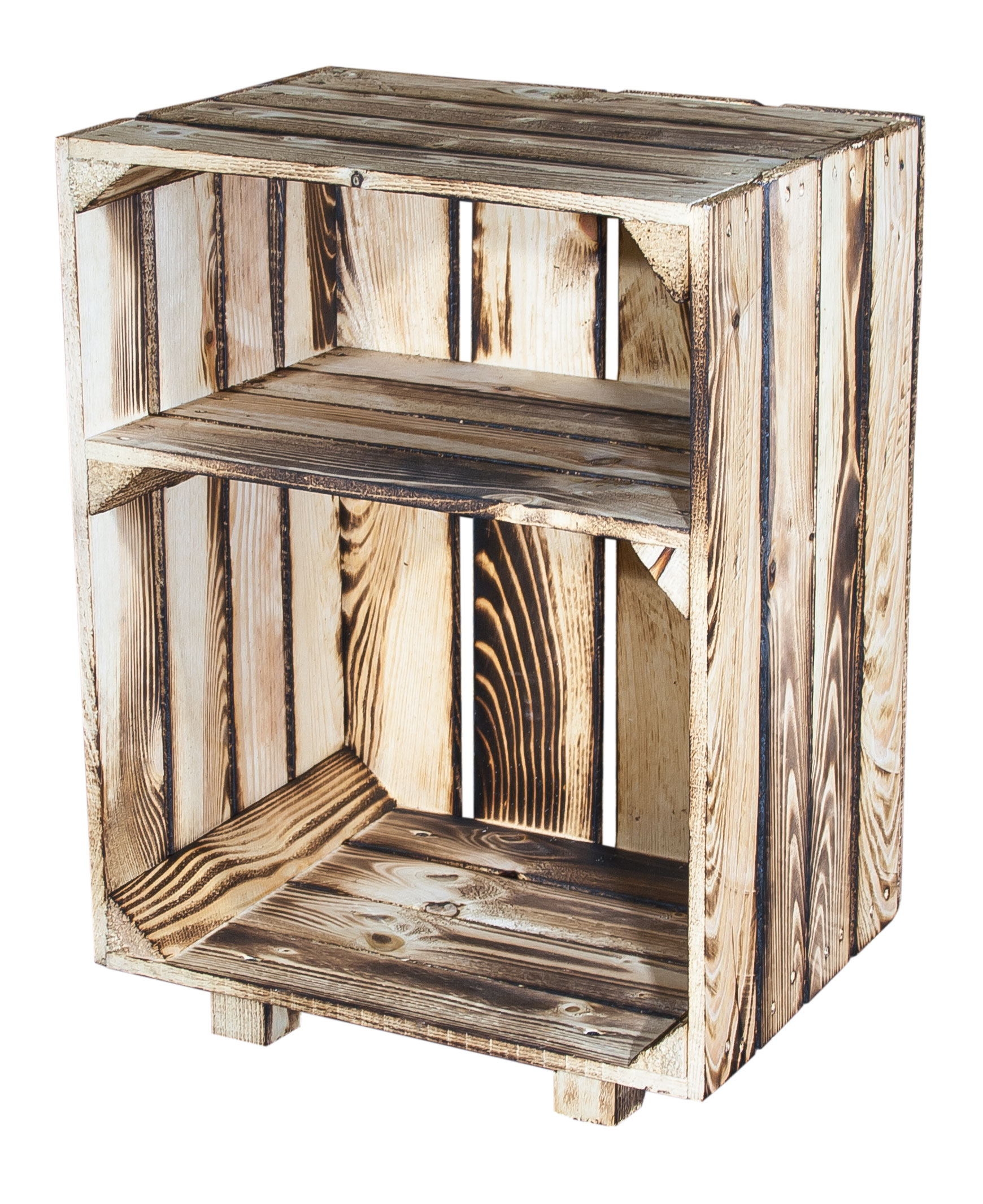 m bel nachttisch mit boden geflammt 30 5x40x54cm. Black Bedroom Furniture Sets. Home Design Ideas