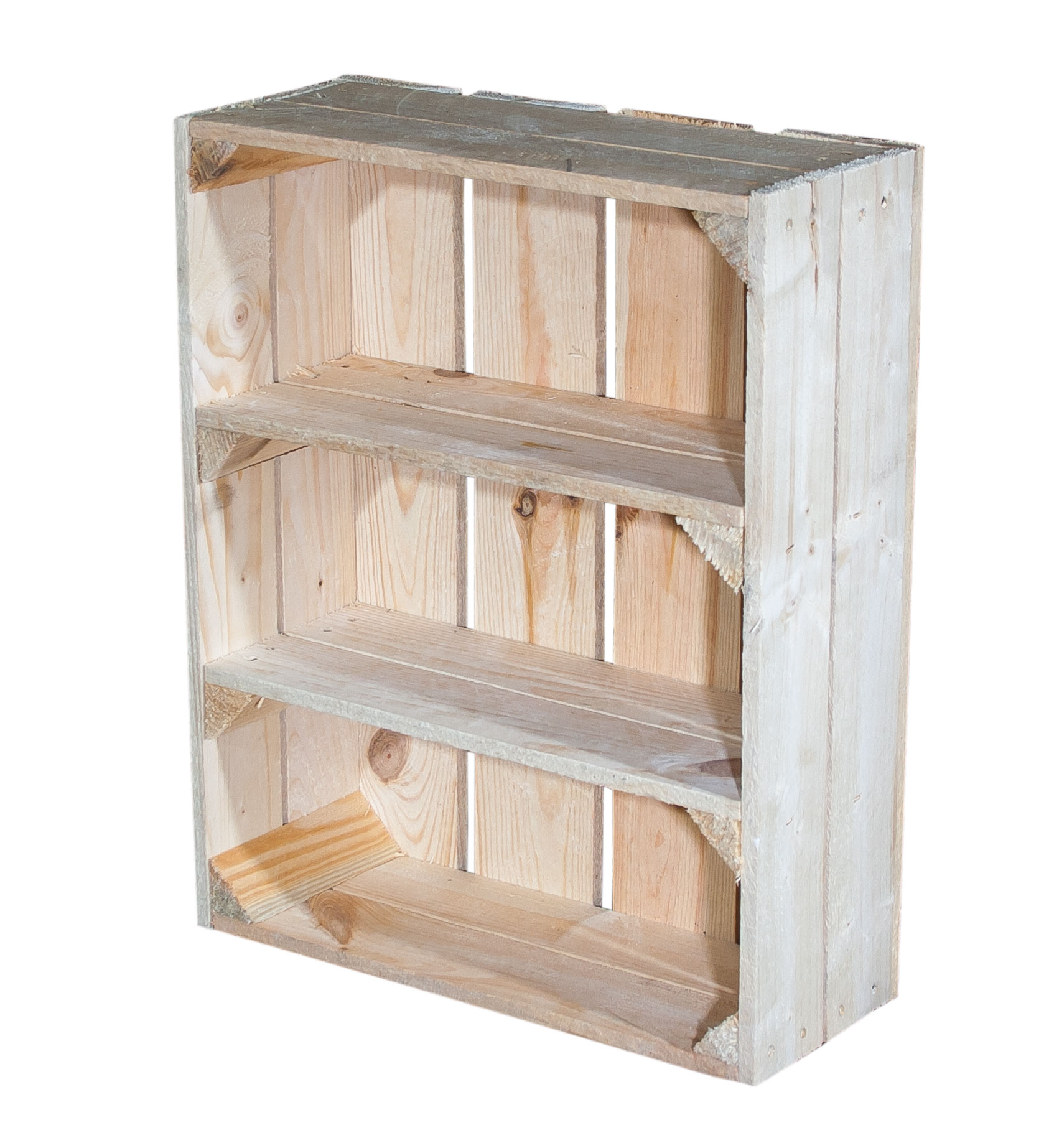 Weinkisten Shop boxes shelf box flat with 3 compartments 50x40 5x16cm