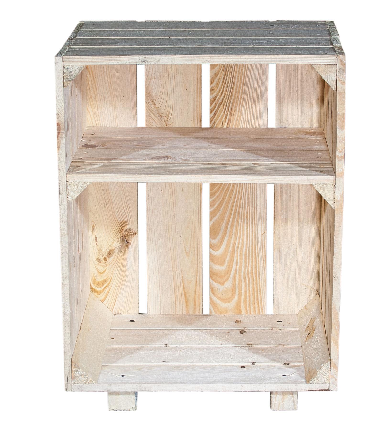 n tzliches nachttisch mit boden natur 30 5x40x54cm. Black Bedroom Furniture Sets. Home Design Ideas