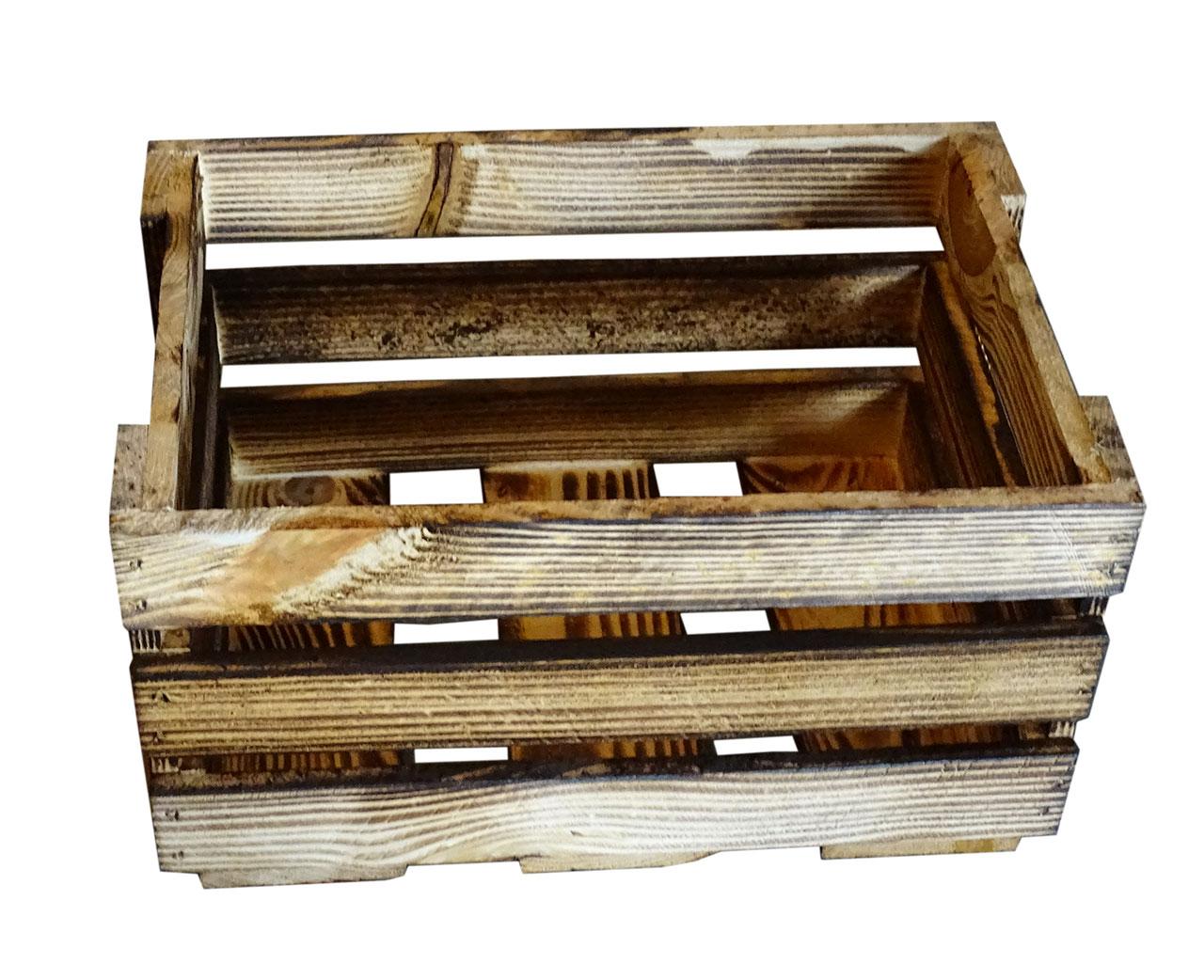 weinboxen kleine geflammte dekokiste 34x23x19cm. Black Bedroom Furniture Sets. Home Design Ideas