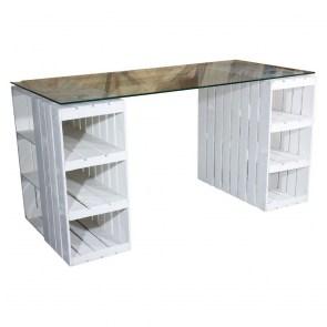 Papierkorb Shabby Loft Rostlook Ø 25 cm Büro oder am Schreibtisch