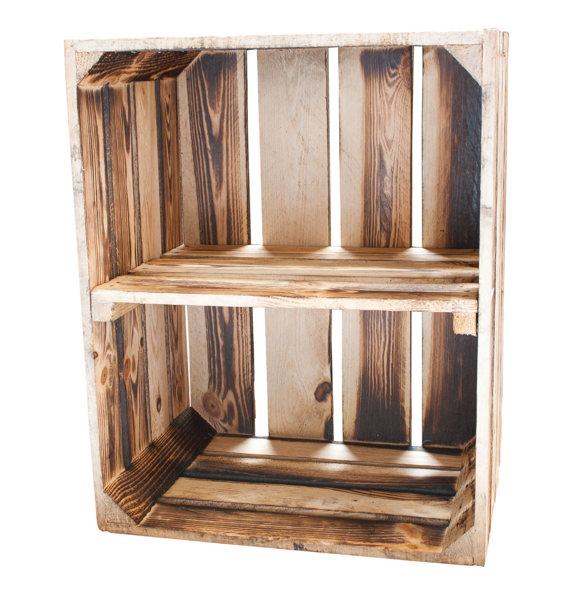 Weinkisten Shop wooden boxes regal box cross ground 50x40x30cm