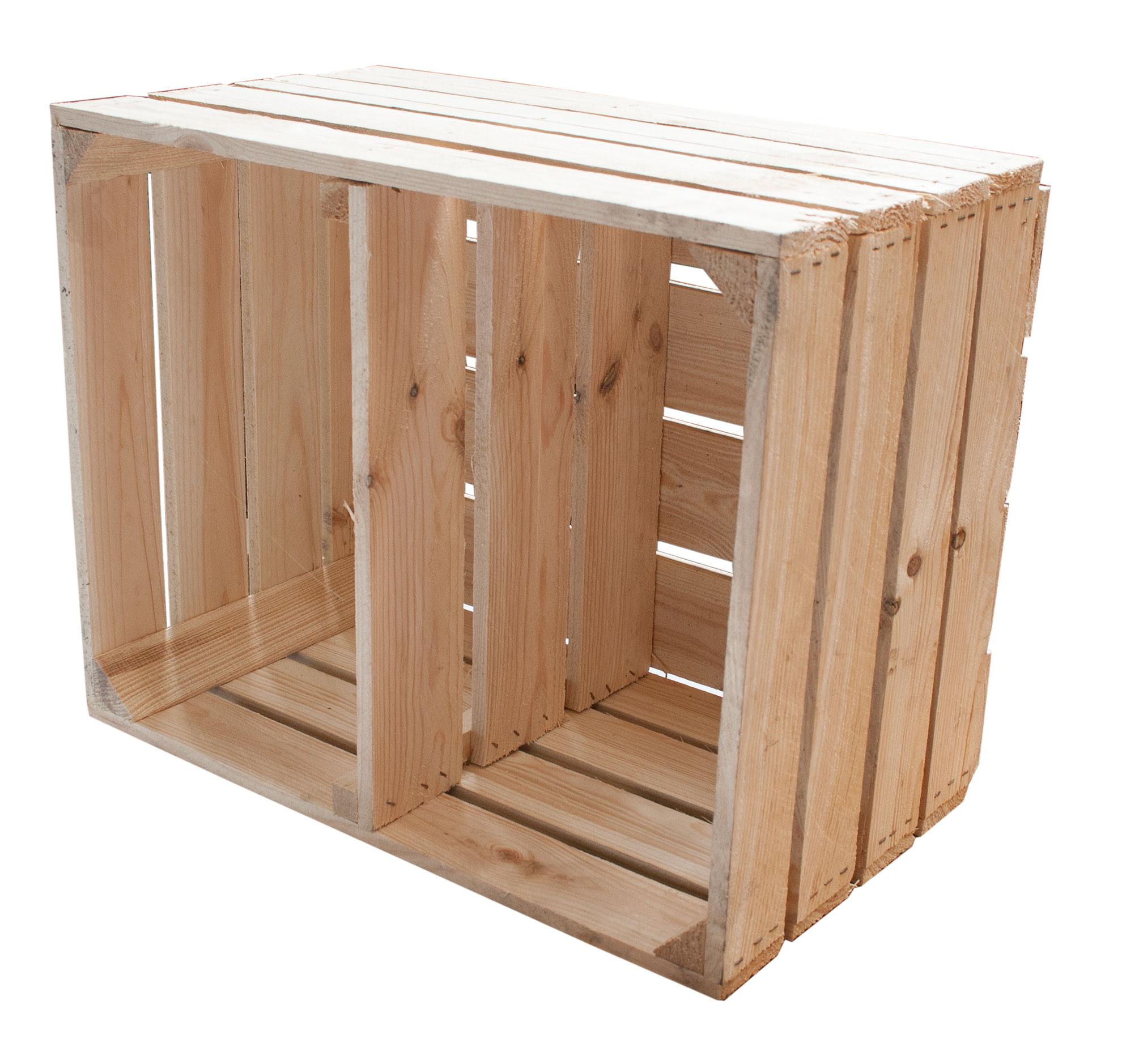 neue kisten regalkisten querboden natur 50x40x30cm. Black Bedroom Furniture Sets. Home Design Ideas