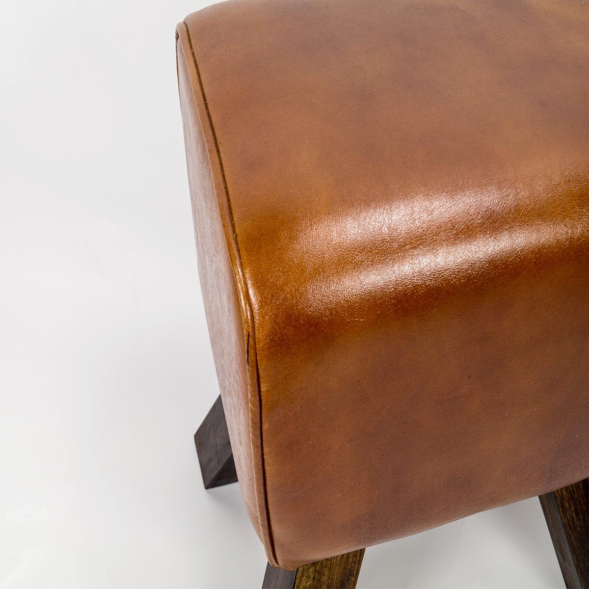 bestseller vintage leder sitzhocker 46x23x42cm. Black Bedroom Furniture Sets. Home Design Ideas